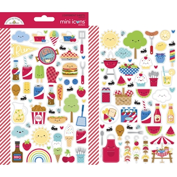 Doodlebug BAR-B-CUTE Mini Icons Stickers 6887