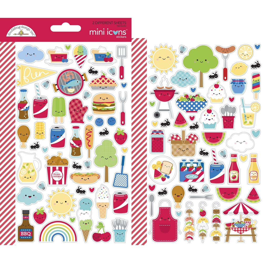 Doodlebug BAR-B-CUTE Mini Icons Stickers 6887 zoom image