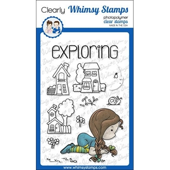 Whimsy Stamps POLKA DOT PALS VERA Clear Stamps BS1011*