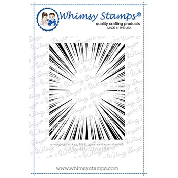 Whimsy Stamps BURST BACKGROUND Cling Stamp DDB0041