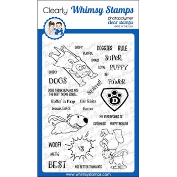 Whimsy Stamps SUPER DOGS Clear Stamps CWSD318