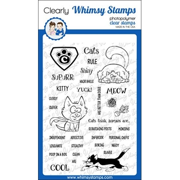 Whimsy Stamps SUPER CATS Clear Stamps CWSD317