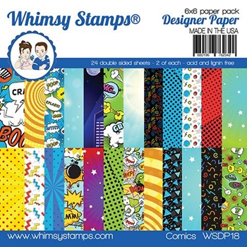 Whimsy Stamps COMIC 6 x 6 Paper Pads WSDP18
