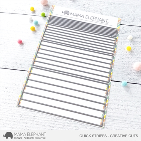 Mama Elephant QUICK STRIPES Creative Cuts Steel Dies Preview Image