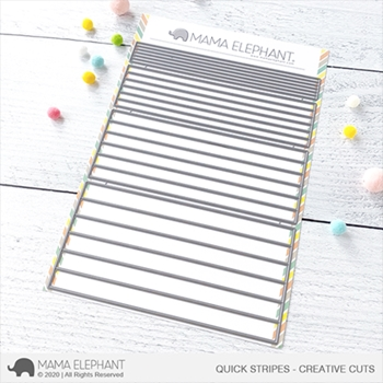 Mama Elephant QUICK STRIPES Creative Cuts Steel Dies