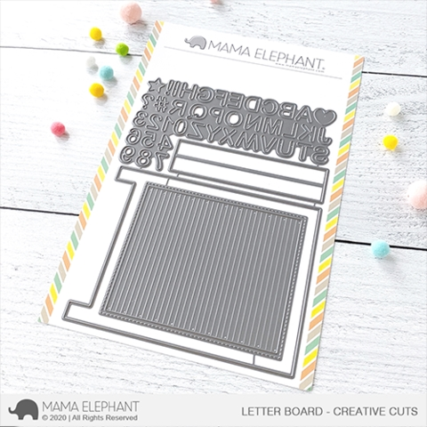 Mama Elephant LETTER BOARD Creative Cuts Steel Dies Preview Image