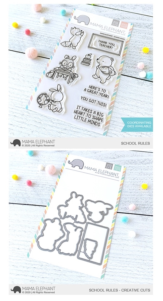 Mama Elephant Clear Stamp and Die mept798 School Rules SET zoom image