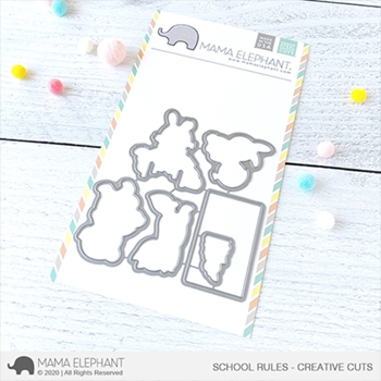 Mama Elephant SCHOOL RULES Creative Cuts Steel Dies