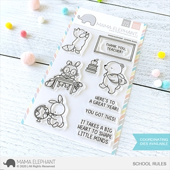 Mama Elephant Clear Stamps SCHOOL RULES