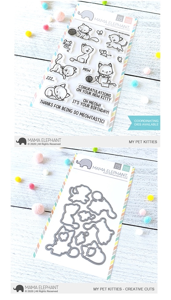 Mama Elephant Clear Stamp and Die mept801 My Pet Kitties SET zoom image