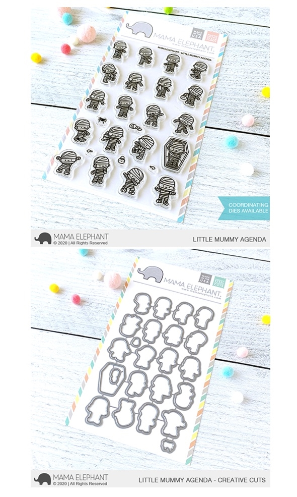 Mama Elephant Clear Stamp and Die mept804 Little Mummy Agenda SET zoom image