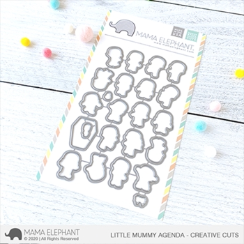Mama Elephant LITTLE MUMMY AGENDA Creative Cuts Steel Dies