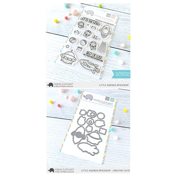 Mama Elephant Clear Stamp and Die mept807 Little Agenda Spaceship SET