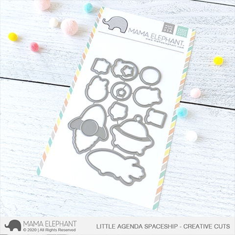 Mama Elephant LITTLE AGENDA SPACESHIP Creative Cuts Steel Dies Preview Image
