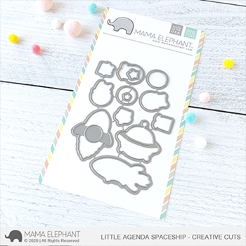 Mama Elephant LITTLE AGENDA SPACESHIP Creative Cuts Steel Dies