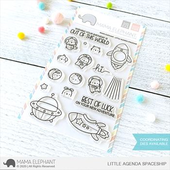 Mama Elephant Clear Stamps LITTLE AGENDA SPACESHIP