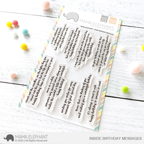 Mama Elephant Clear Stamps INSIDE BIRTHDAY MESSAGES  zoom image