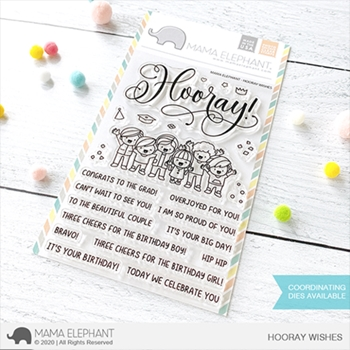 Mama Elephant Clear Stamps HOORAY WISHES