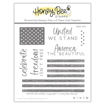 Honey Bee UNITED WE STAND Clear Stamp Set hbst264
