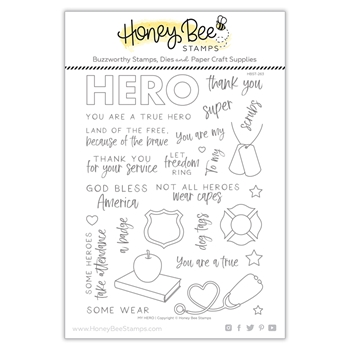 Honey Bee MY HERO Clear Stamp Set hbst263