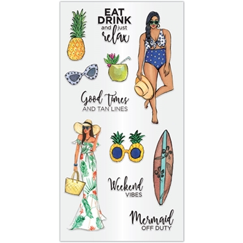 Hampton Art JUST RELAX Clear Stamps sc0944*