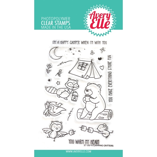 Avery Elle Clear Stamps CAMPING CRITTERS ST-20-14 Preview Image