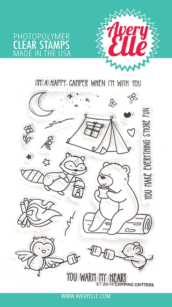 Avery Elle Clear Stamps CAMPING CRITTERS ST-20-14 zoom image