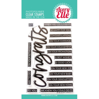 Avery Elle Clear Stamps BIG CONGRATS ST-20-24