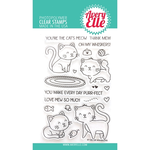 Avery Elle Clear Stamps WHISKERS ST-20-23 Preview Image