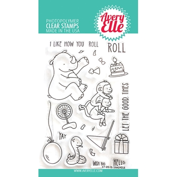 Avery Elle Clear Stamps UNICYCLE ST-20-15