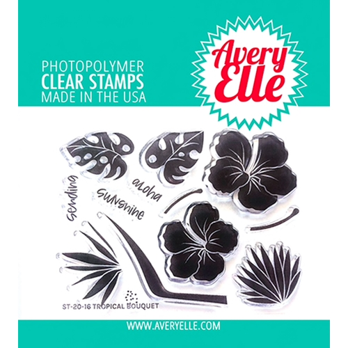 Avery Elle Clear Stamps TROPICAL BOUQUET ST-20-16 Preview Image