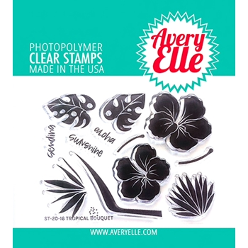 Avery Elle Clear Stamps TROPICAL BOUQUET ST 20 16