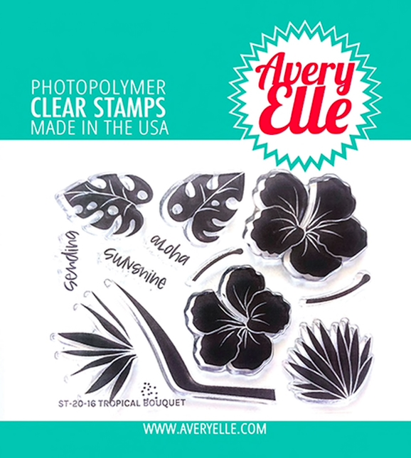 Avery Elle Clear Stamps TROPICAL BOUQUET ST-20-16 zoom image