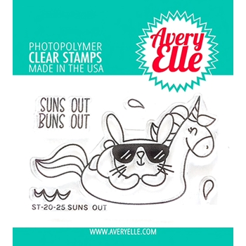 Avery Elle Clear Stamps SUNS OUT ST-20-25