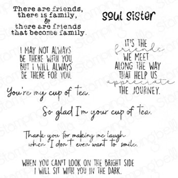 Stamping Bella Cling Stamps FRIENDSHIP SENTIMENT SET eb951