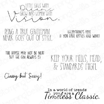Stamping Bella Cling Stamps TIMELESS CLASSIC SENTIMENT CLASSIC eb953