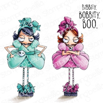 Stamping Bella Cling Stamps ODDBALL STEPSISTERS eb971