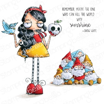 Stamping Bella Cling Stamps ODDBALL SNOW WHITE eb973