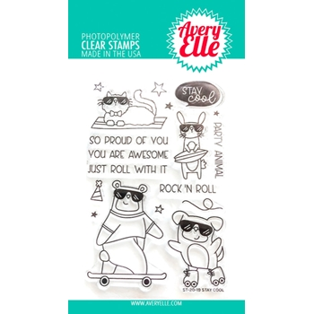 Avery Elle Clear Stamps STAY COOL ST-20-19
