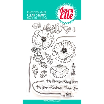 Avery Elle Clear Stamps POPPIES ST-20-17