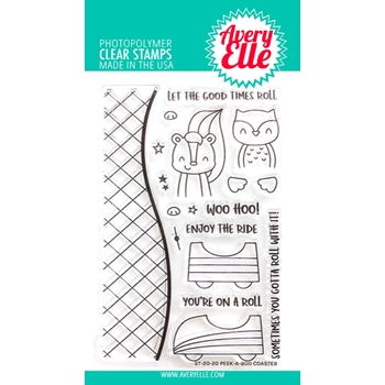 Avery Elle Clear Stamps PEEK A BOO COASTER ST-20-20