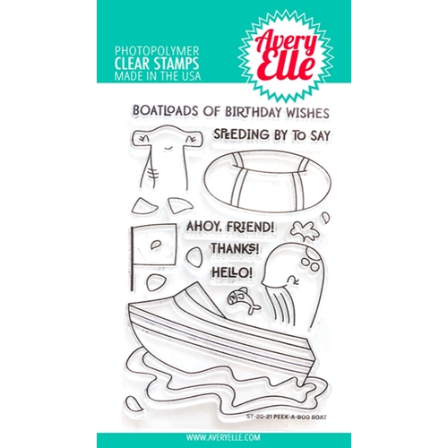 Avery Elle Clear Stamps PEEK A BOO BOAT ST-20-21 Preview Image