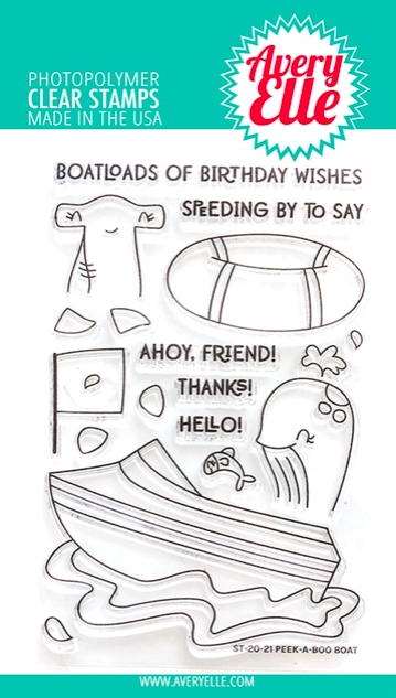 Avery Elle Clear Stamps PEEK A BOO BOAT ST-20-21 zoom image