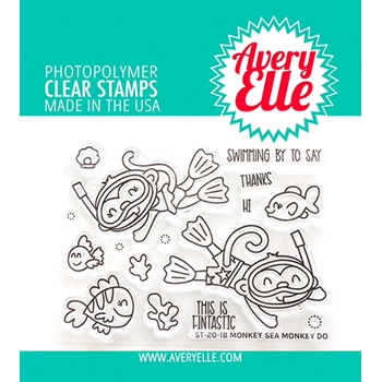 Avery Elle Clear Stamps MONKEY SEA MONKEY DO ST-20-18