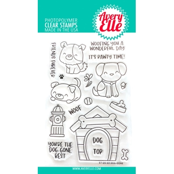 Avery Elle Clear Stamps DOG GONE ST-20-22