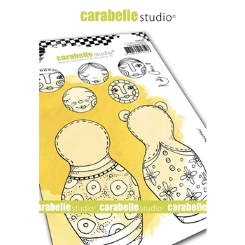Carabelle Studio BUILD A BABOUSHKA Cling Stamps sa60499