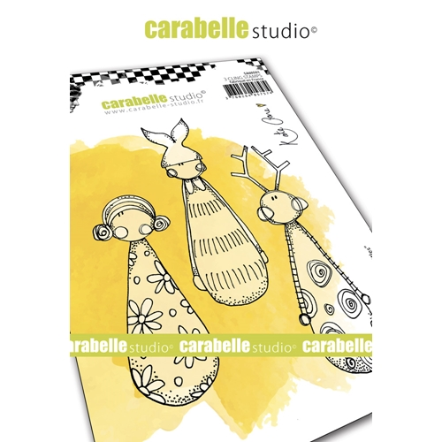 Carabelle Studio LITTLE SKITTLES Cling Stamps sa60501* Preview Image