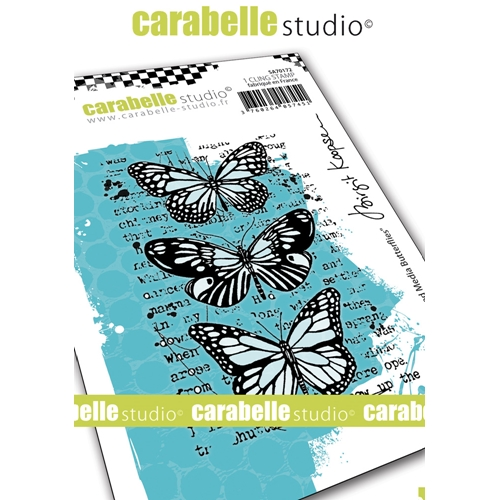 Carabelle Studio MIXED MEDIA BUTTERFLIES Cling Stamps sa70172* Preview Image