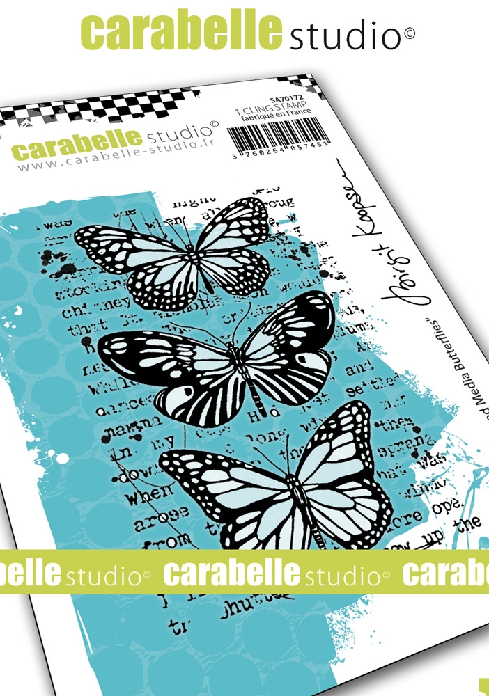 Carabelle Studio MIXED MEDIA BUTTERFLIES Cling Stamps sa70172* zoom image