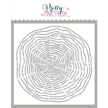 Pretty Pink Posh WOODGRAIN CIRCLE Stencil